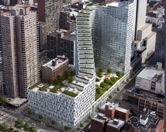 住宅建筑:曼哈顿中心的梅赛德斯住宅大厦