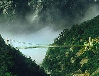 庐山石门涧悬索桥大修加固工程竣工